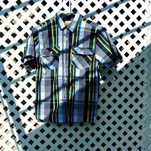 Roebuck&Co. Boy's plaid button dow shirt.